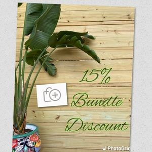 Bundle 2 or more items for automatic 15% discount